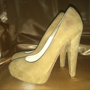 Brian Atwood Suede Heels Mustard Size 39